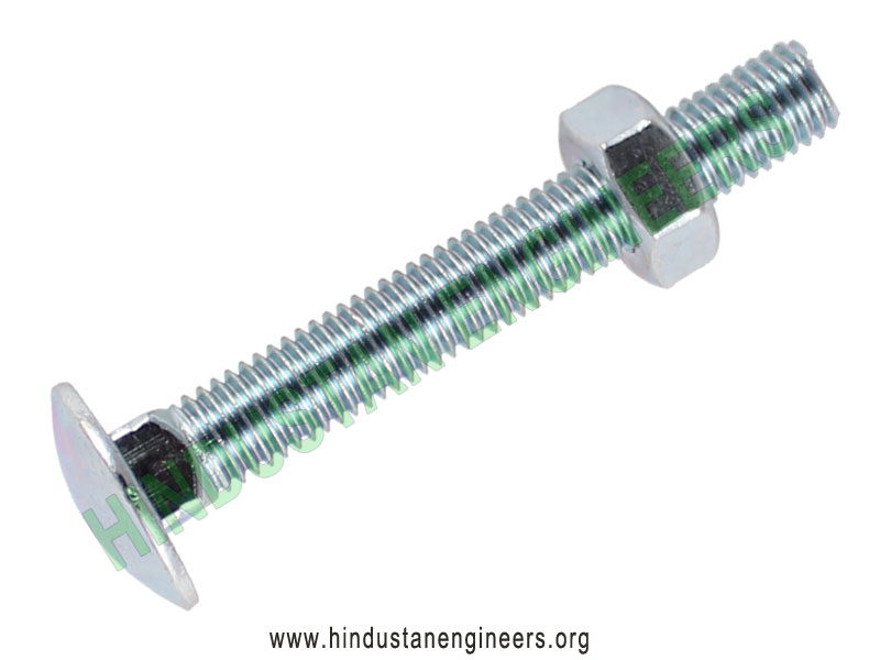 Carriage Bolts with Nuts manufacturers exporters suppliers in India