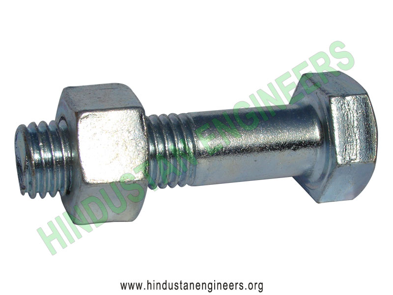 Hex Bolts Zinc Plated manufacturers exporters suppliers in India
