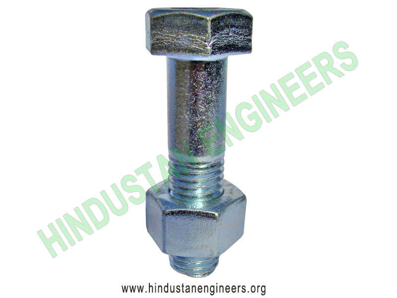Zinc Plated Hex Bolt manufacturers exporters suppliers in India