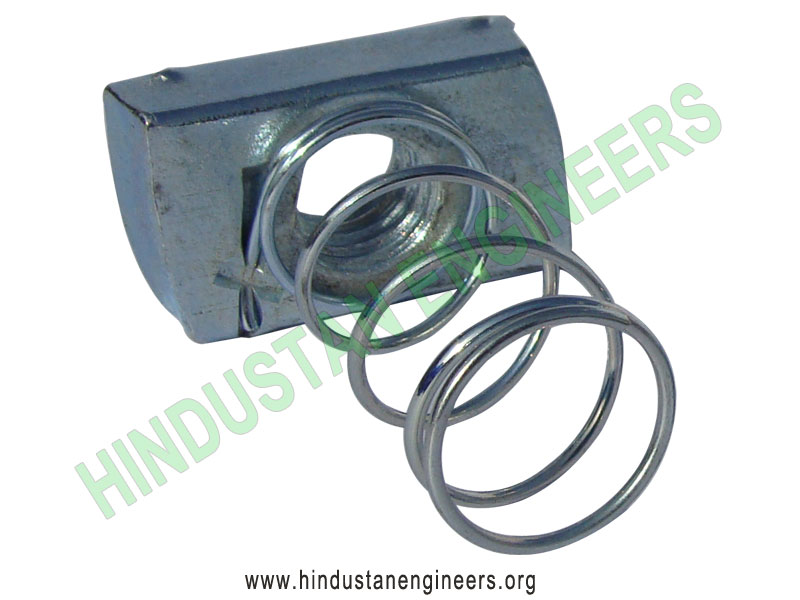 Channel Nut with Long Spring manufacturers exporters suppliers in India