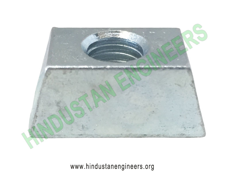 Wedge Nuts Zinc plated manufacturers exporters suppliers in India