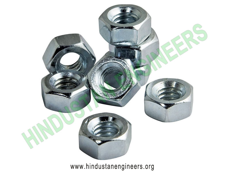 Zinc Plated Hex Nut manufacturers exporters suppliers in India