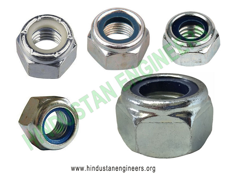 Hexagonal Nylock Nut manufacturers exporters suppliers in India