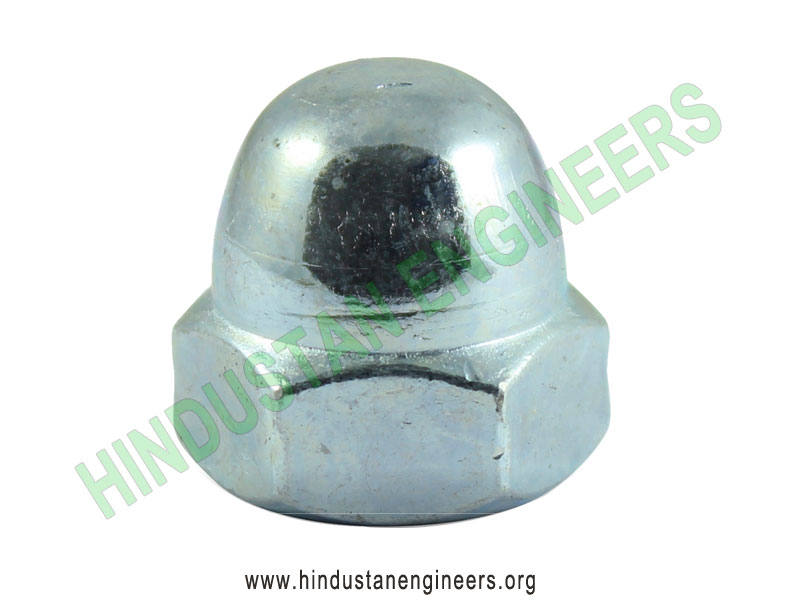 Dome Nuts Zinc Plated manufacturers exporters suppliers in India