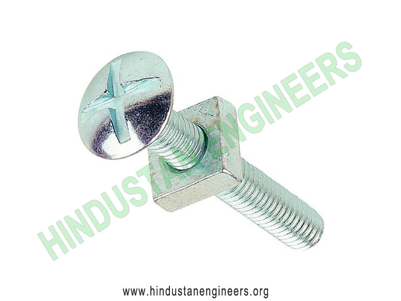 Roofing Bolts with square nut manufacturers exporters suppliers in India