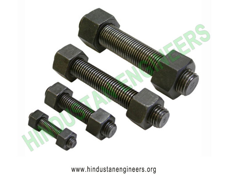 Threaded Studs with Hex Nut manufacturers exporters suppliers in India